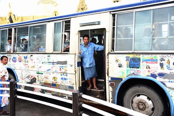 du lich xe bus o myanmar