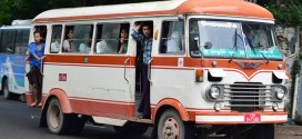 Đi xe bus ở Myanmar